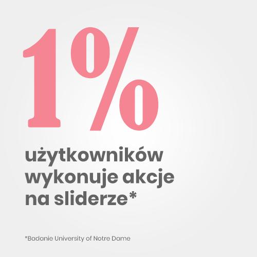 1 użytkowników wykonuje akcje na sliderze. Jak założyć sklep internetowy?